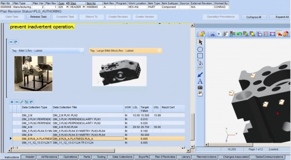 iBASEt Solumina Manufacturing Execution System (MES) work instructions screenshot