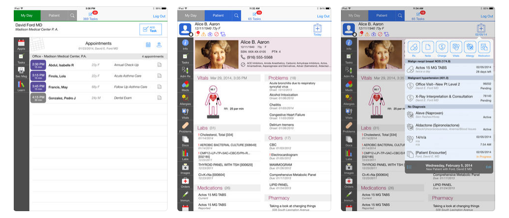 xIntergy Mobile is a companion native app for iOS and specifically iPad devices, providing users with remote roaming access to key platform features