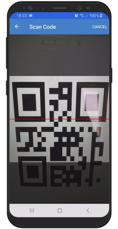 Scan a QR Code or Barcode