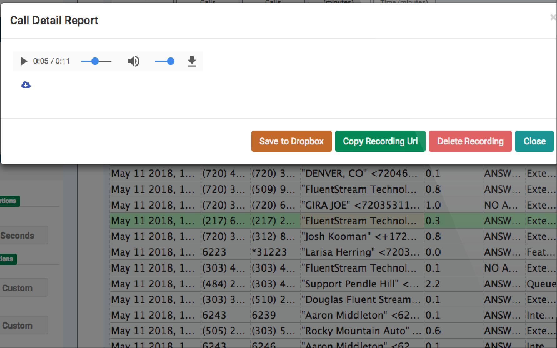 FluentStream Software - Call detail report %>
