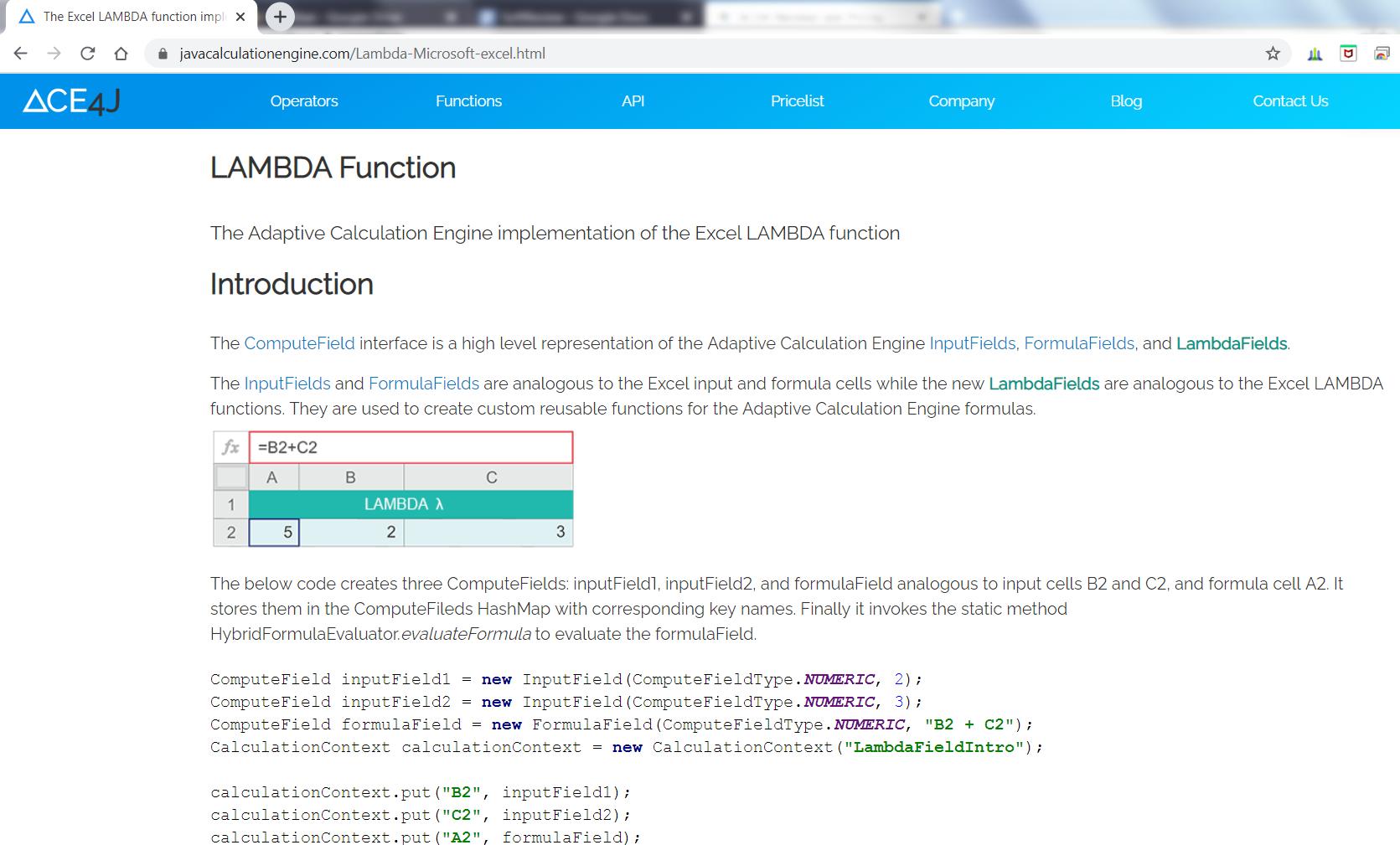 The ACE4J Lambda Function