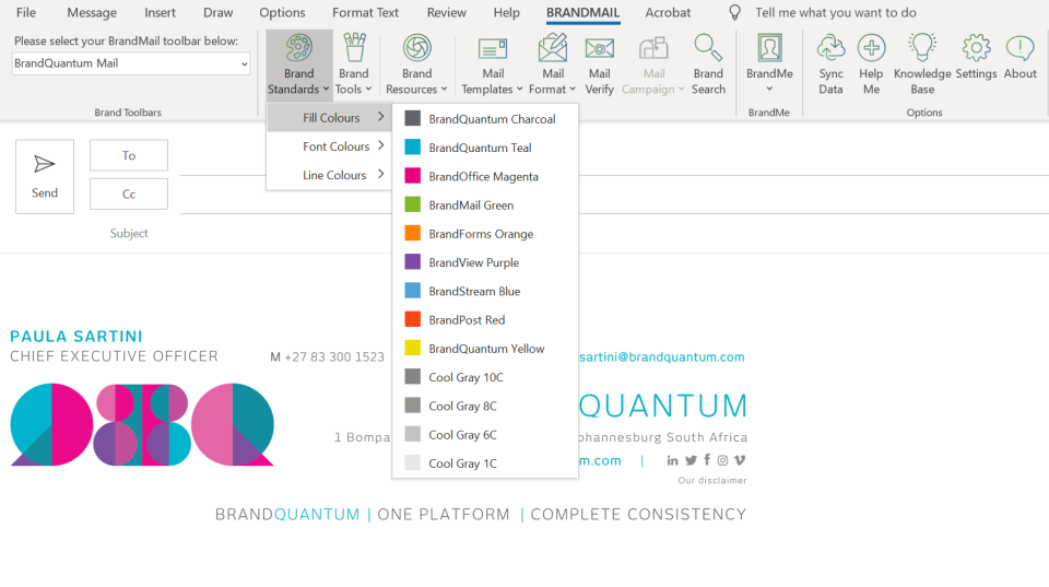BrandMail integration with Microsoft Outlook