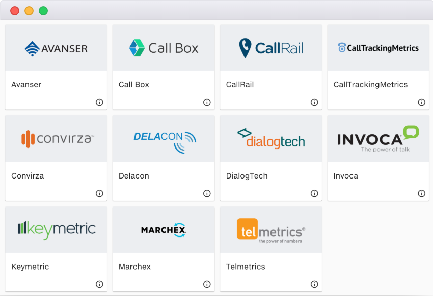 Call Tracking Connectors