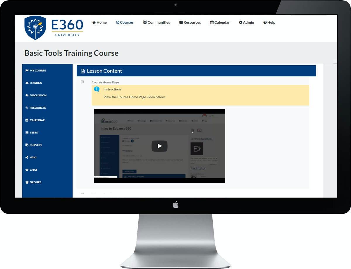 Edvance360 Software - Lesson Content