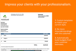 Knowify screenshot: Impress your clients with your professionalism.