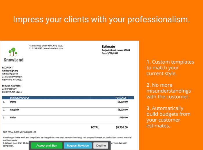 Impress your clients with your professionalism.