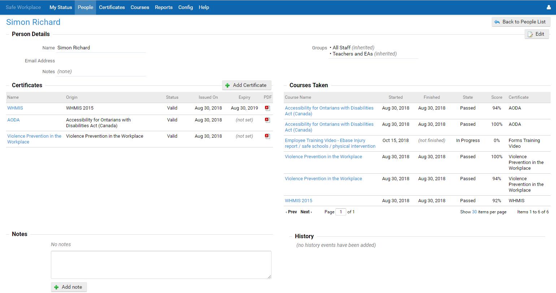 eBASE Software - eBASE employee details