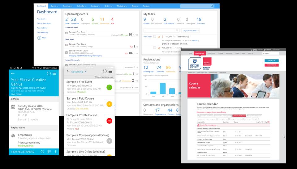 Arlo - dashboard and mobile app