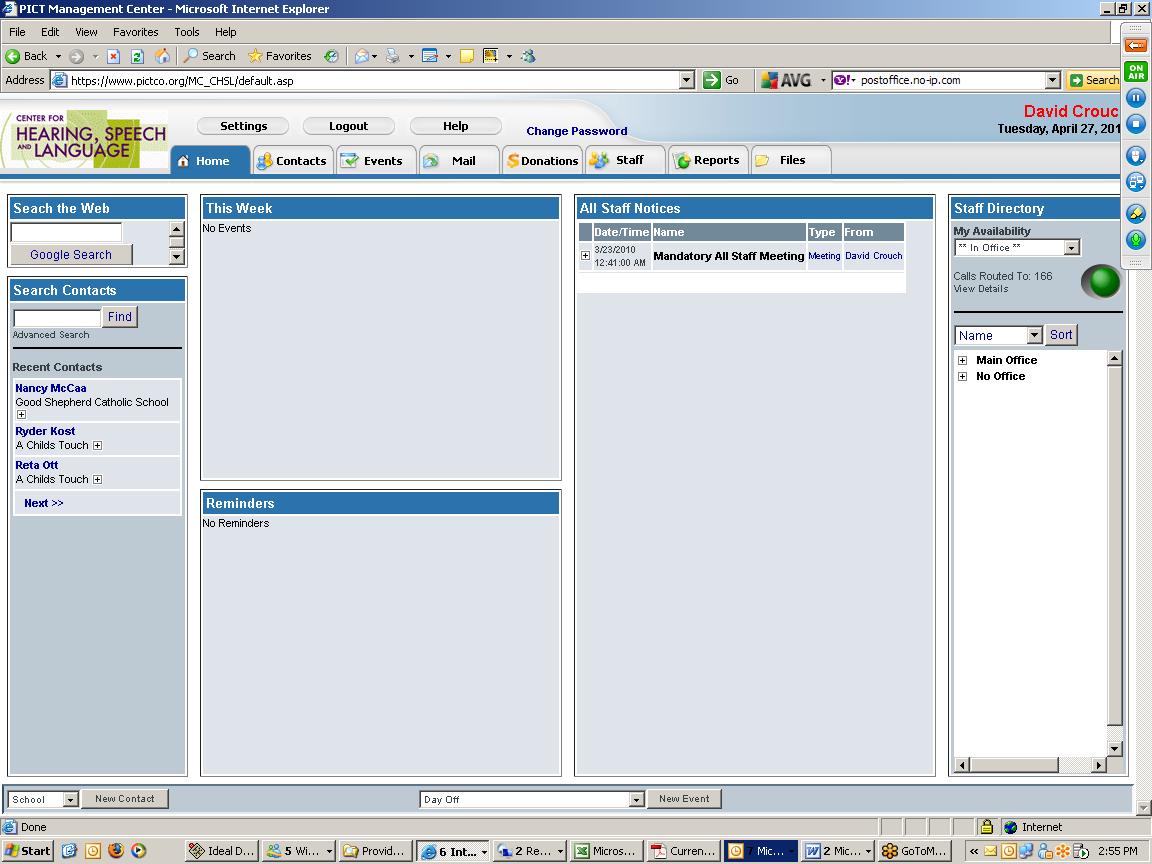 NewOrg Software - Dashboard