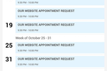Capture d'écran pour DealerCenter : The DealerCenter native mobile app on iOS provides an overview of all scheduled appointments