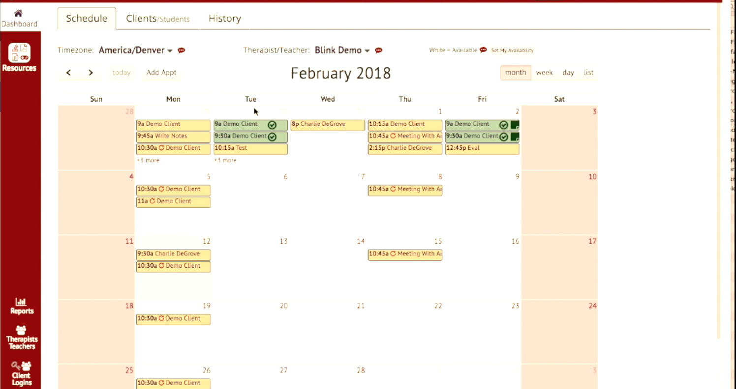 The calendar tool allows users to schedule appointments and set reminders for upcoming appointments