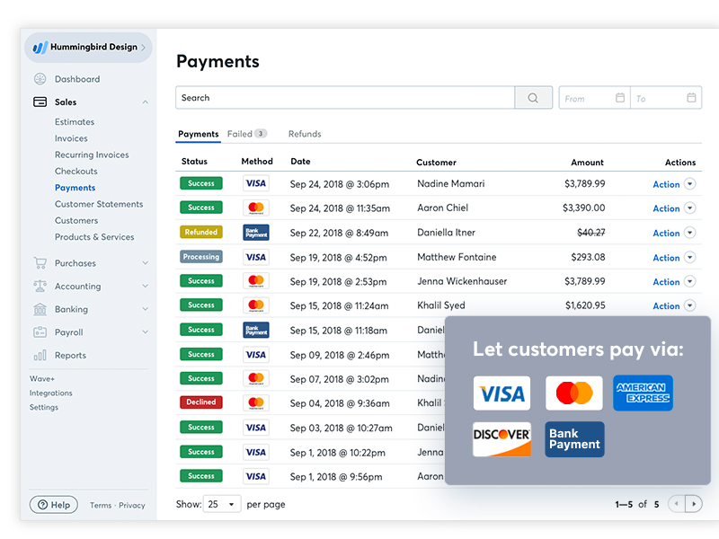 Wave Accounting Software - Wave Payments