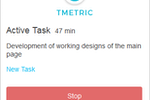 TMetric screenshot: Browser Extension Interface