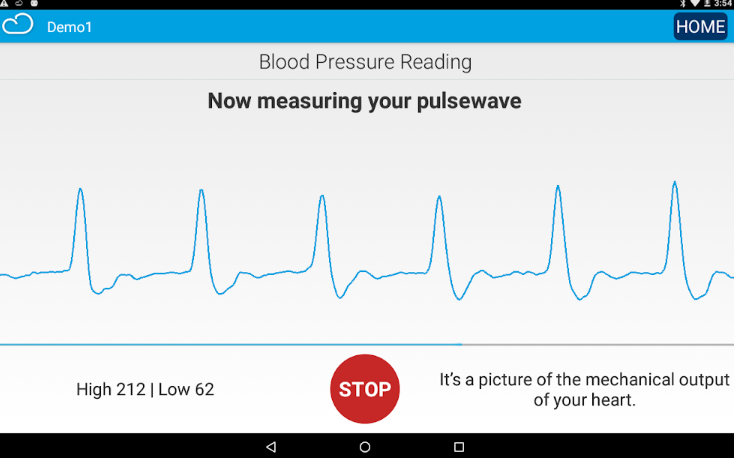 Connected Health blood pressure rate