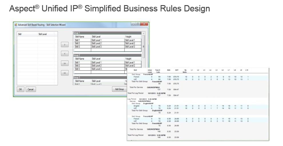 Aspect Unified IP Software - Simplified business rules design