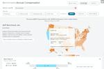 ADP Workforce Now screenshot: Benchmarking: sample (compensation explorer)