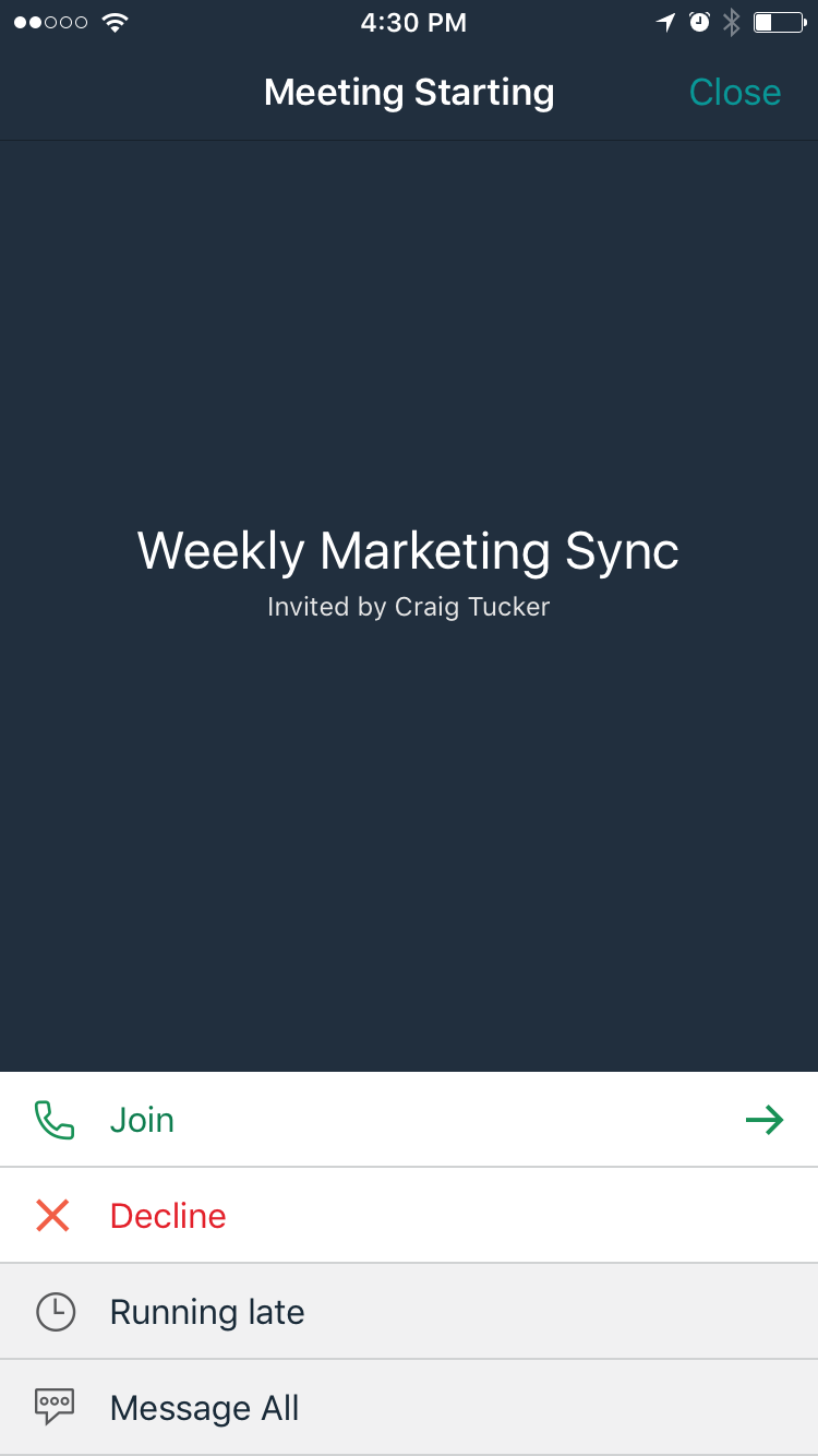 Amazon Chime allows users to join meetings with a tap