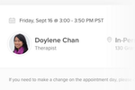 Capture d'écran pour Lyra : Employees can book appointments with therapists via Lyra
