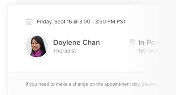 Employees can book appointments with therapists via Lyra
