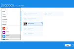 Dropbox Business screenshot: Dropbox Windows 8 app