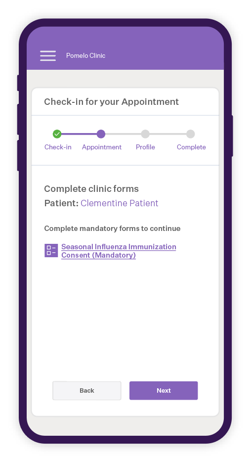 Pomelo Health Software - Allow your patients to self check in using their mobile device and save up to 90 hours of staff-time per employee, per month.