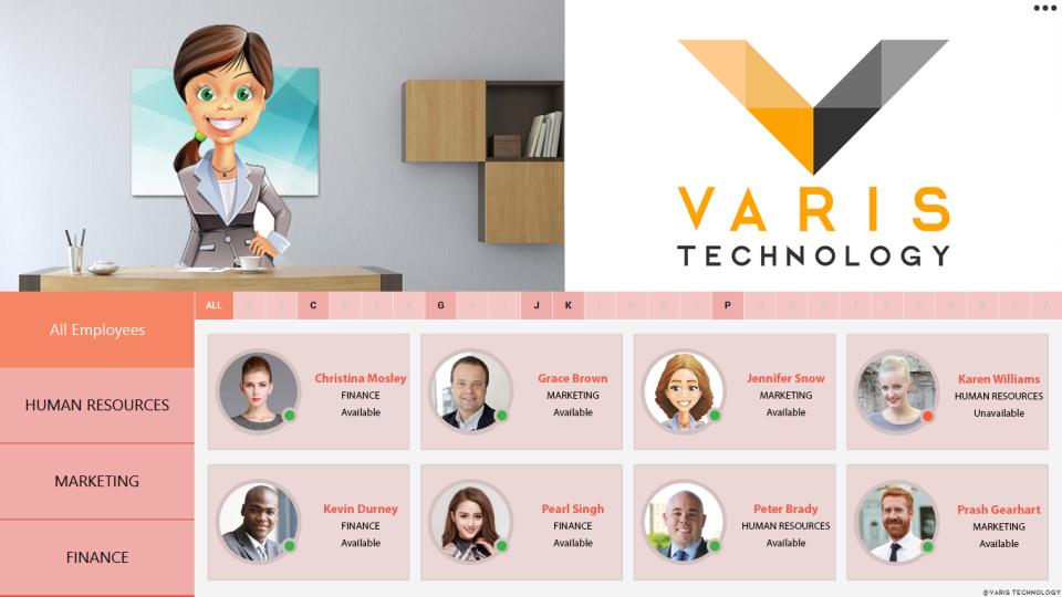 Varis Receptionist video calling