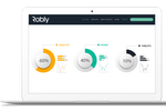 Captura de pantalla de Robly: Device-specific reporting options include mobile versus desktop statistics along with hourly email open rates across all devices