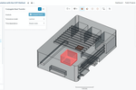 SimScale screenshot: Screenshot of the SimScale platform after the upload of an electronics enclosure CAD model