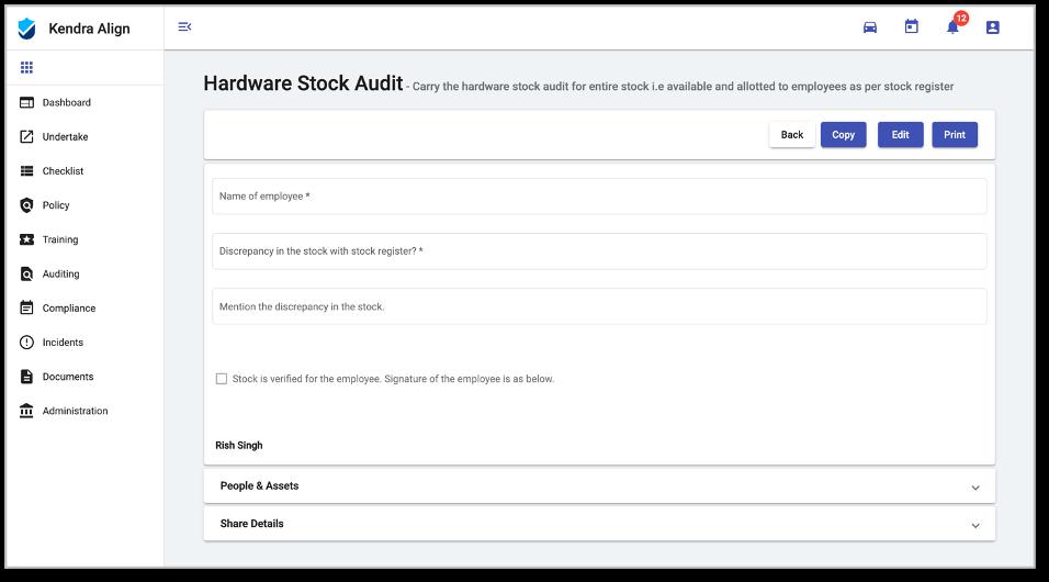 Kiri Align audit