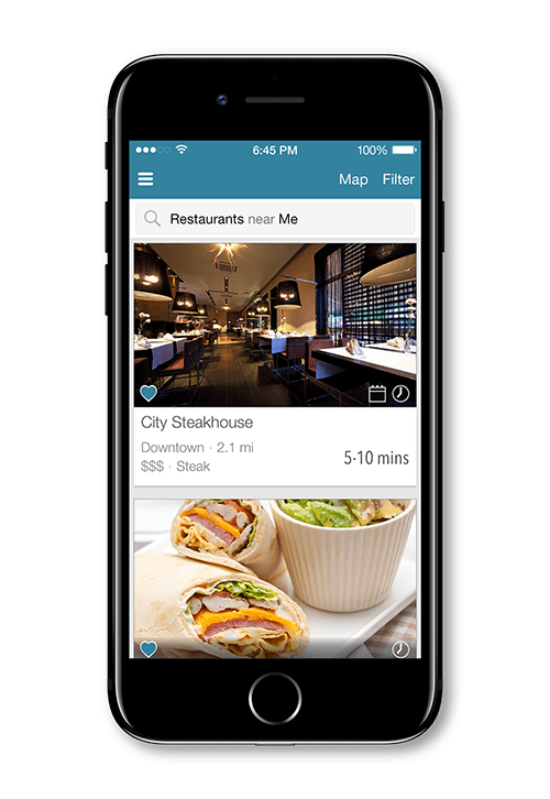 The customer app for iOS and Android allows users to search for restaurants, makes reservations, and more