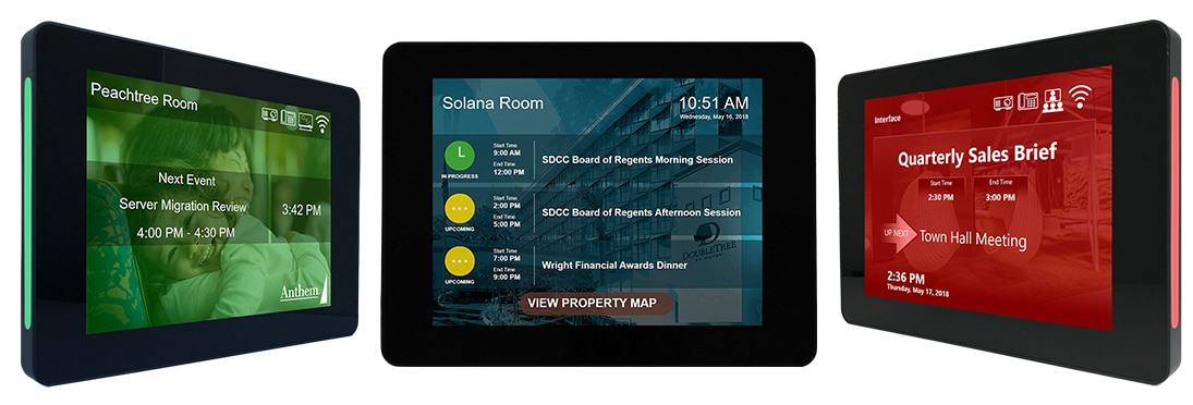 Deliver custom schedule layouts with interactivity to Touch room signs. AxisTV Signage Suite lets you customize every element of on-screen playback, while showing schedule data from your own calendar app.