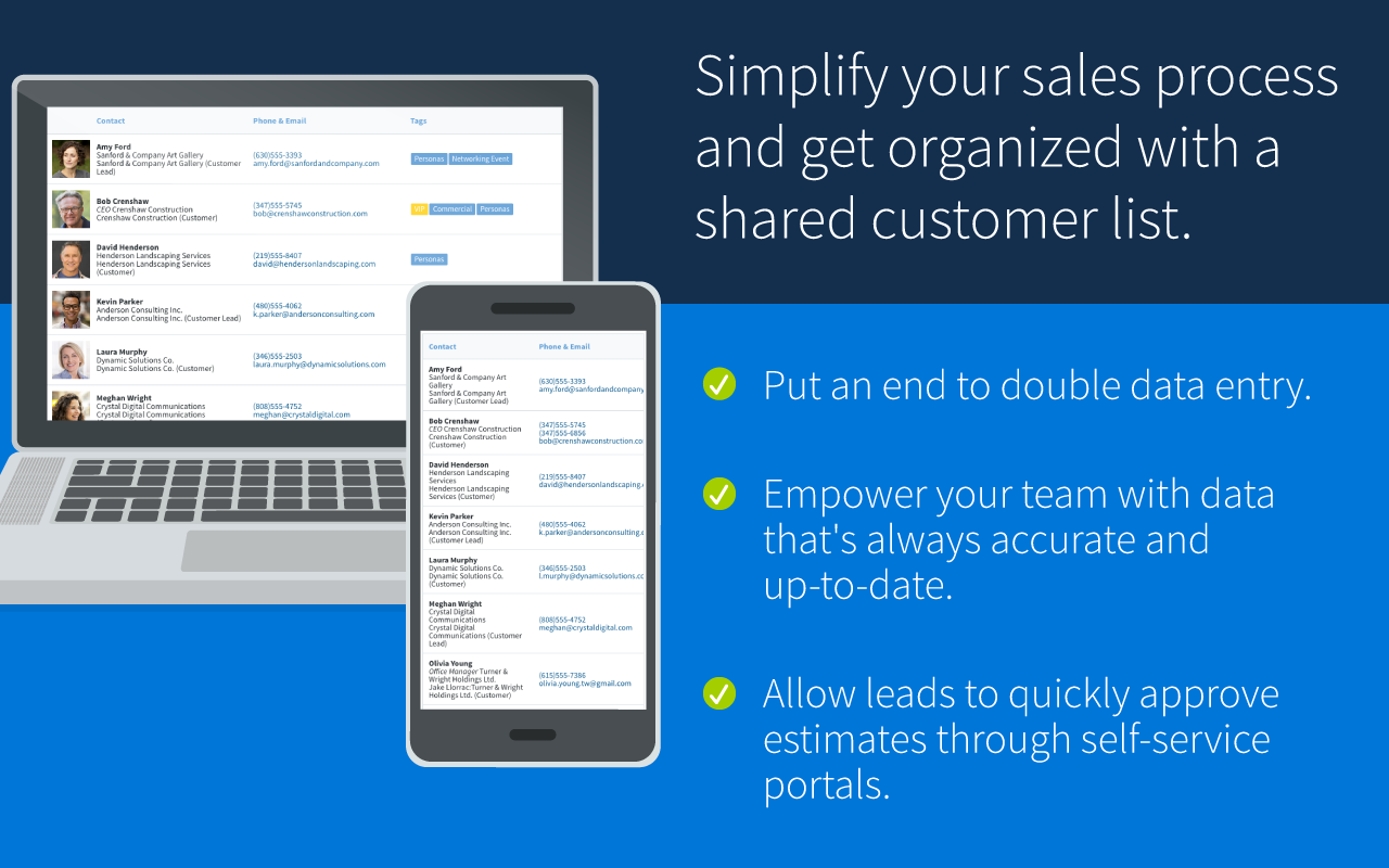 Simplify your sales process and get organized with a shared customer list
