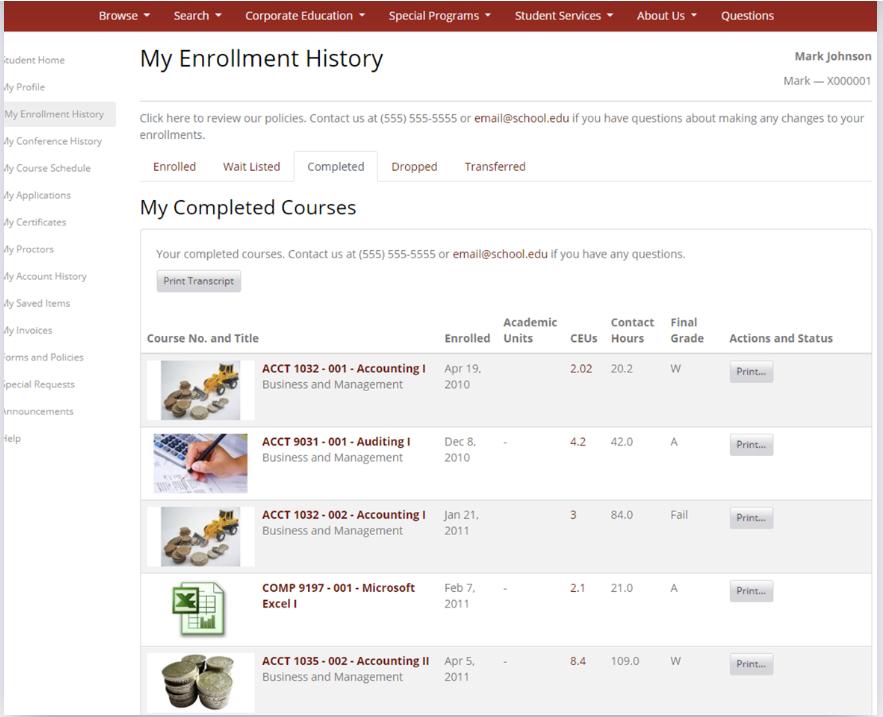 Destiny One enrollment screenshot