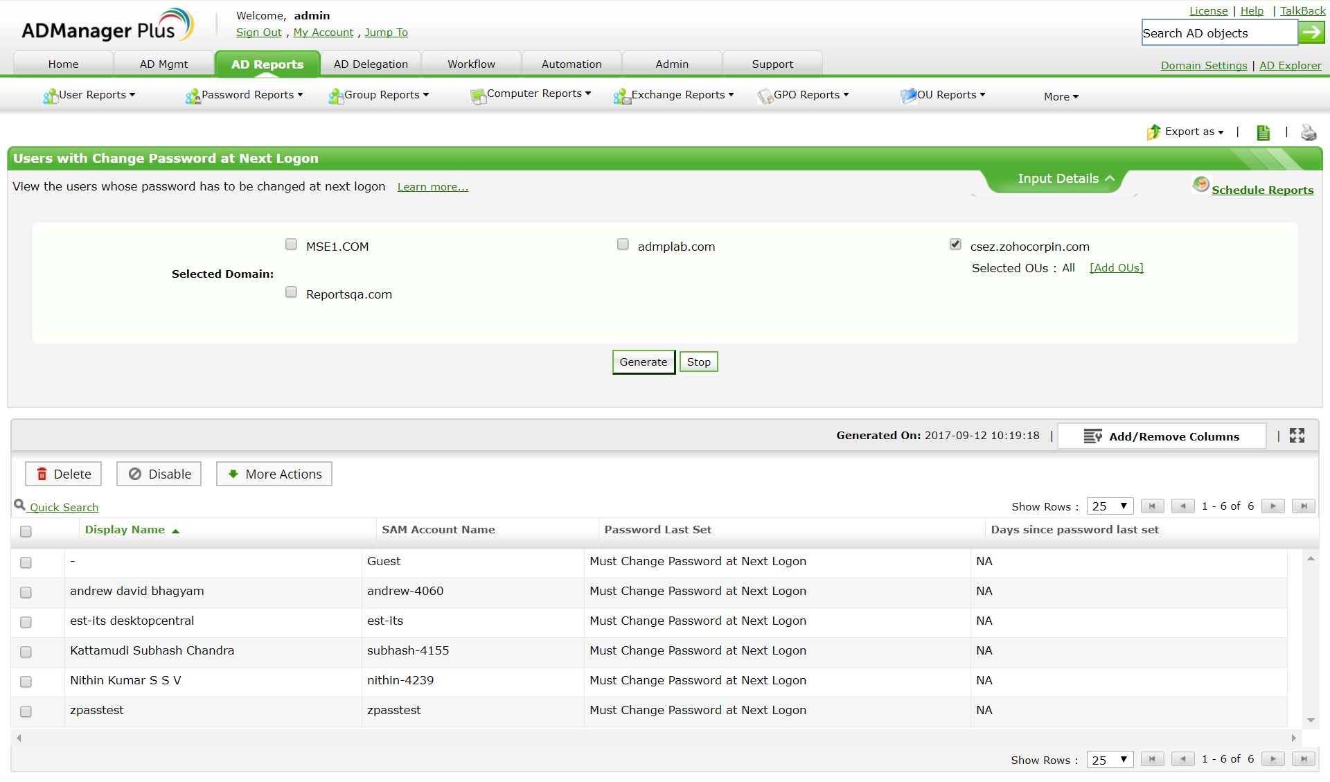 Build and export reports