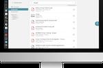 Plek screenshot: Upload, preview or download documents. Plek offers version control.