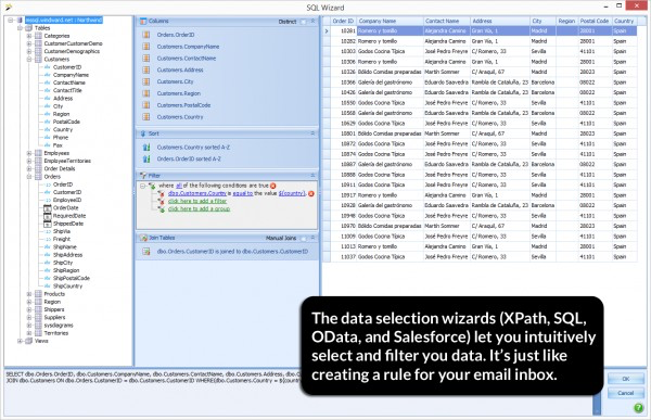 Windward Hub screenshot: Select and filter the relevant data with Windward Solution