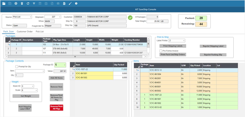 AIT SureShip Software - Dashboard %>