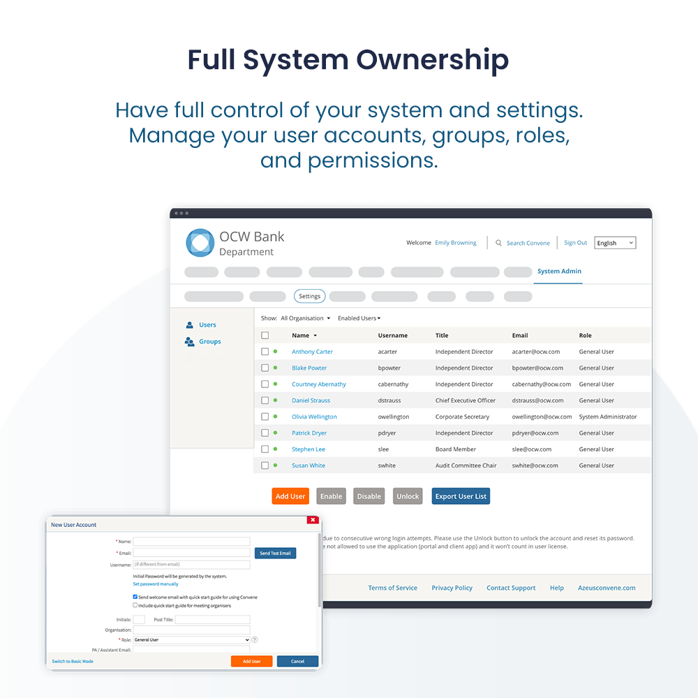 Full System Ownership
