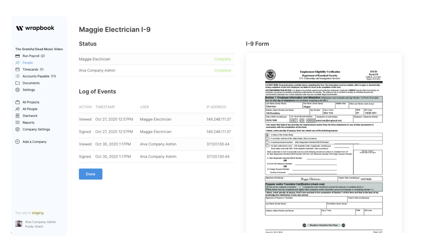 Wrapbook contract status