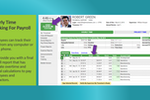 Timesheets.com screenshot: The hourly timesheet shows attendance, time off, accrual balances, and more.