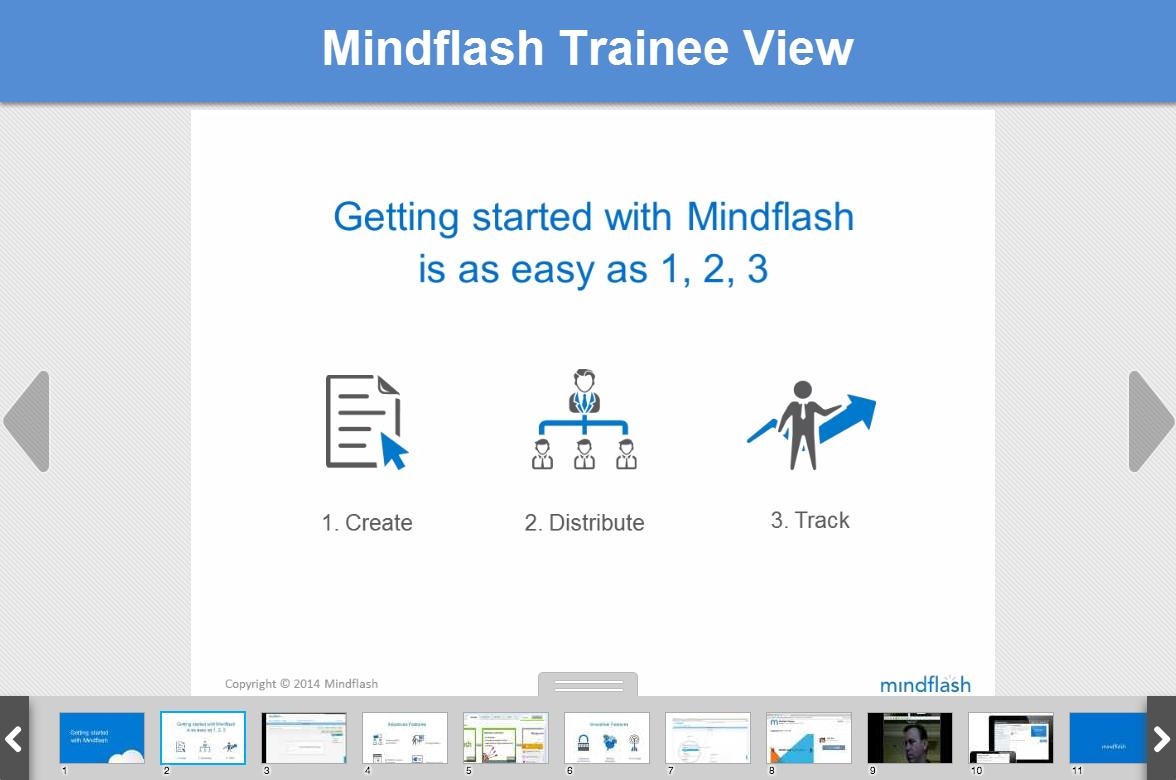 Mindflash traineee view