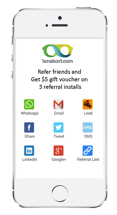InviteReferrals screenshot: InviteReferrals supports multiple referral and social sharing options, including all major social media platforms, Whatsapp and email