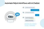 Comm100 Live Chat screenshot: Automate FAQs & Workflows with AI Chatbot