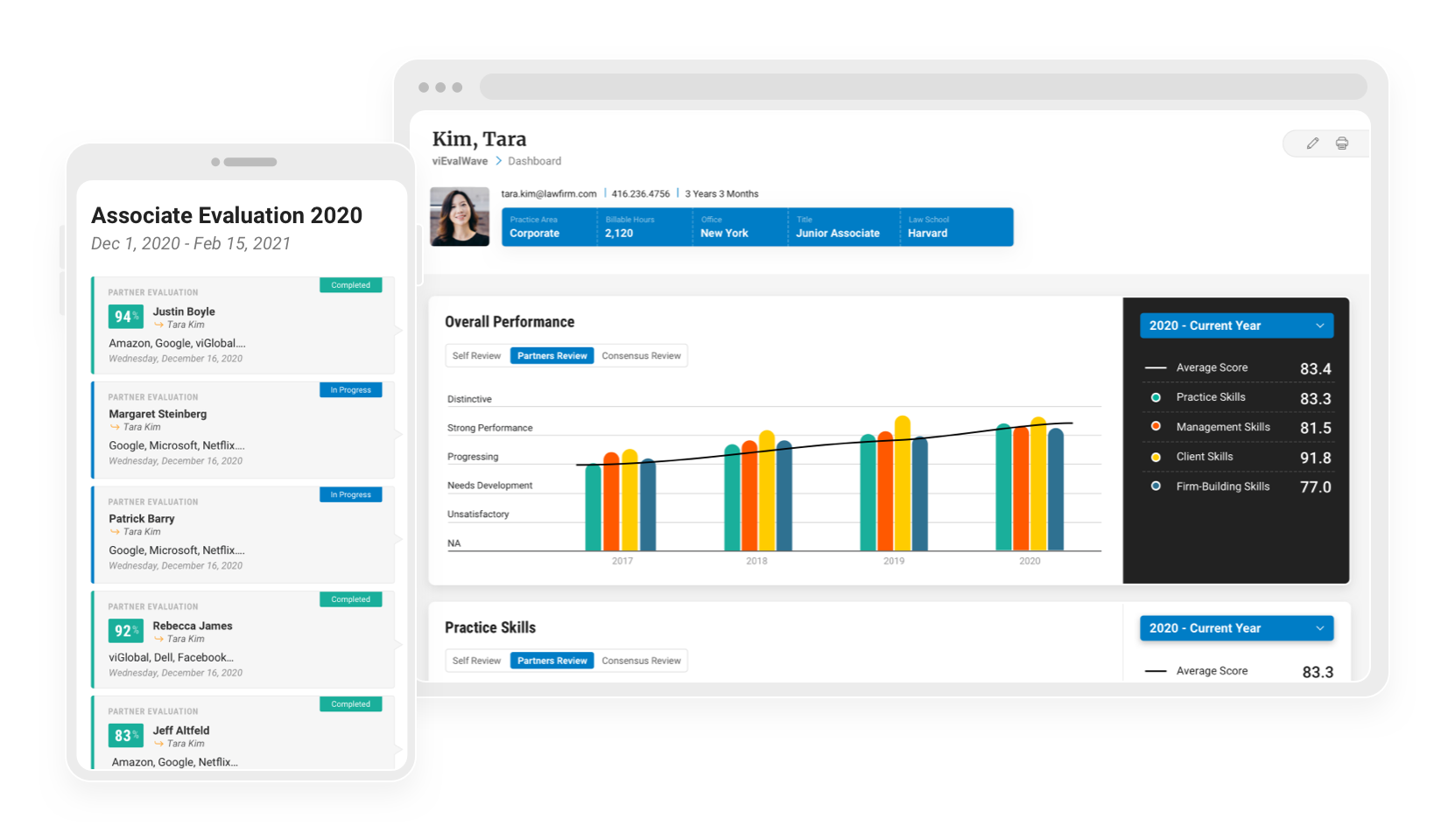 viRTF Software - Integration with performance reviews