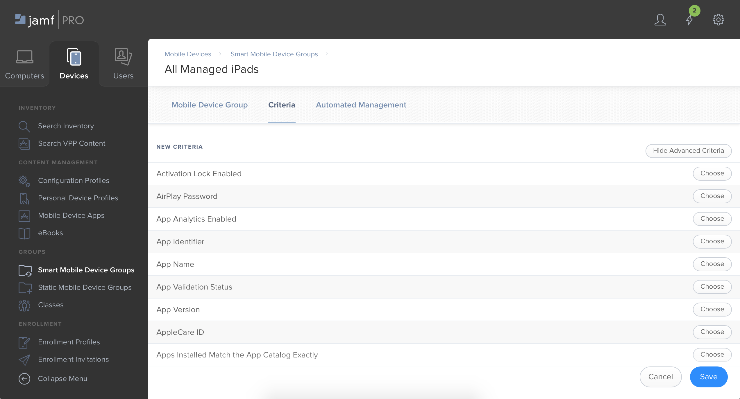 Jamf Pro device manager