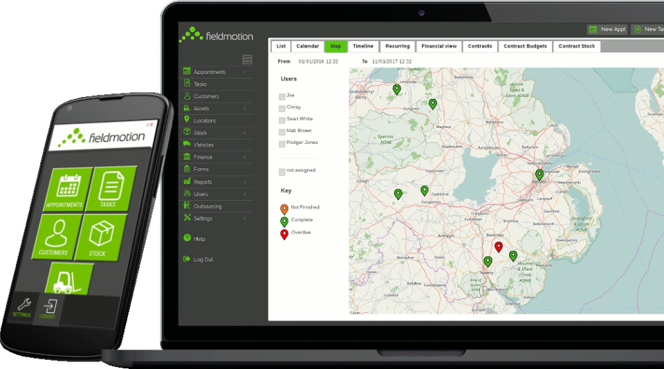 Access Fieldmotion on desktop and mobile, with native mobile apps for iOS and Android