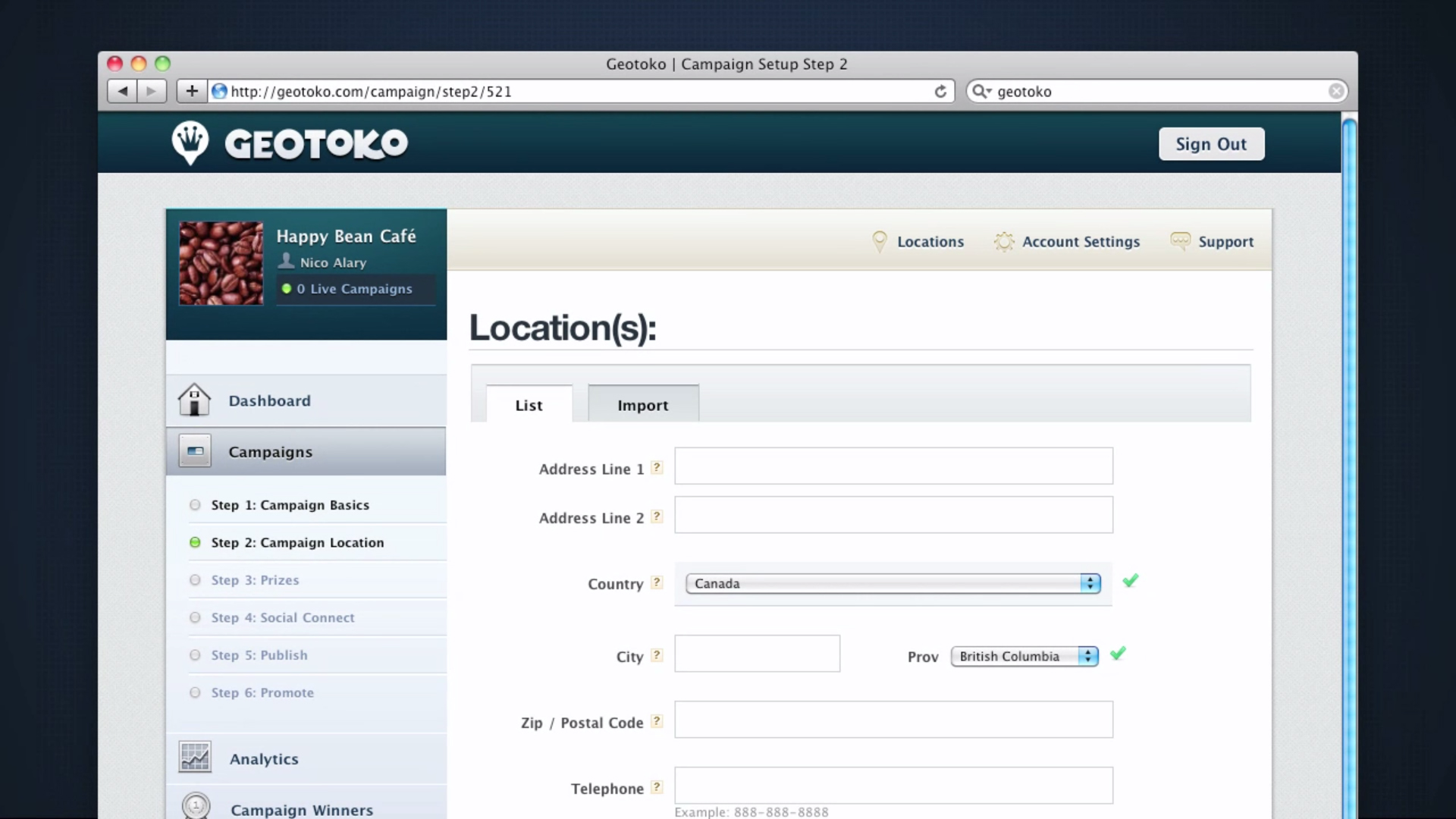 Geotoko-SocialCRM-Locations
