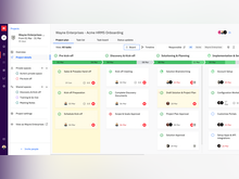 """Rocketlane Software - Showcases the blueprint for execution - phases, tasks, milestones, responsibilities, visibility, due dates, and timeline view options, and a """"Presentation Mode"""" to interactively present all these to clients with ease."""