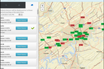 TripMaster screenshot: The automated vehicle locator allows users to see their entire fleet's current location