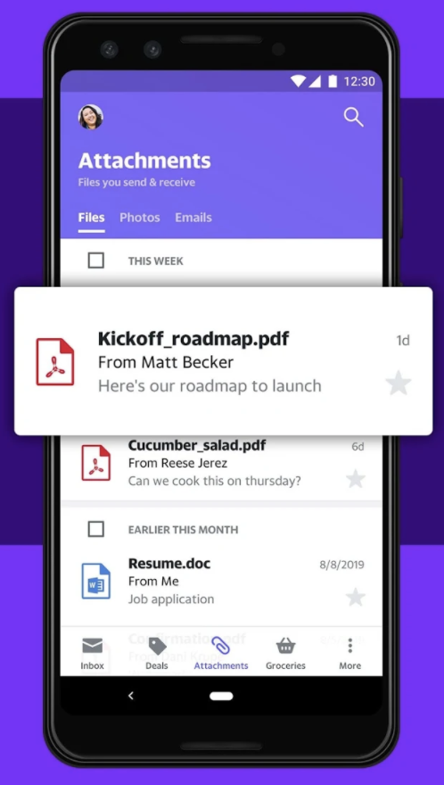 Yahoo Mail - mobile version